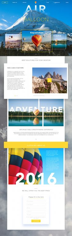Adventure Agency Website by Valentyn Khenkin