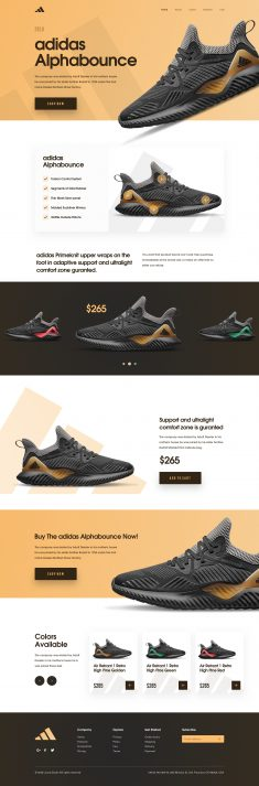 Adidas Alphabounce – Sneakers Landing page