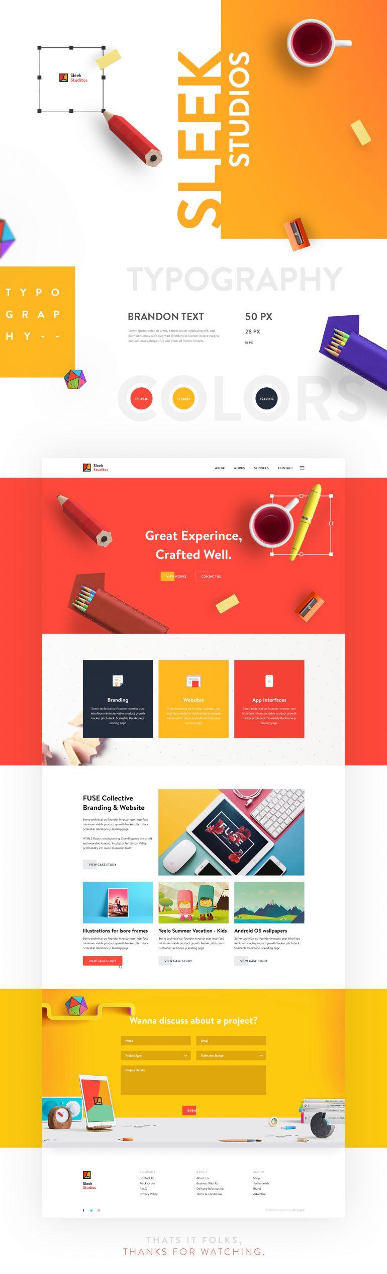 SLEEK Studios – Website Design Concept