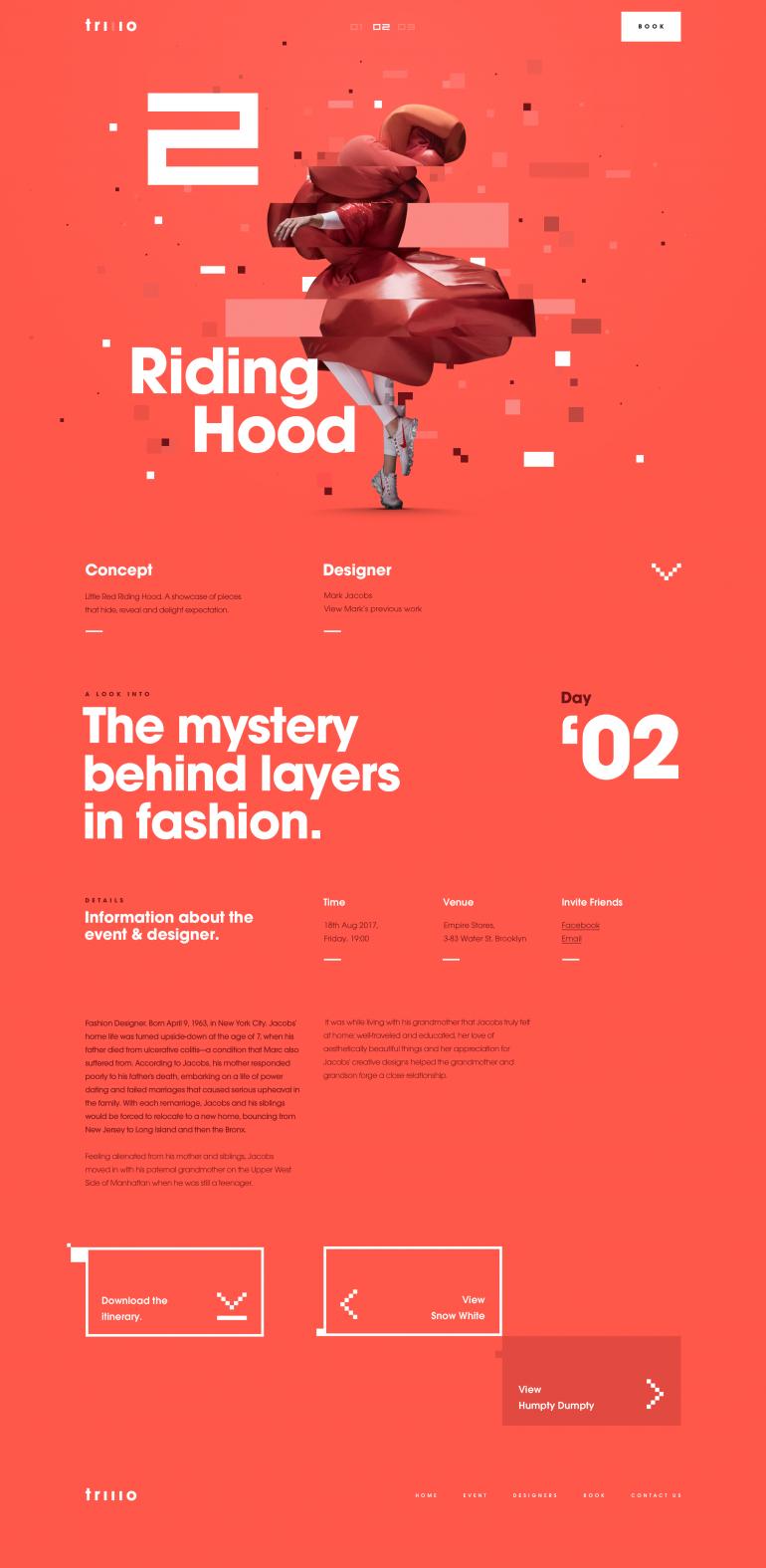 Fashion Details Page – Riding Hood