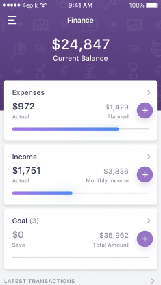 Finance App by Oleg Toptalov