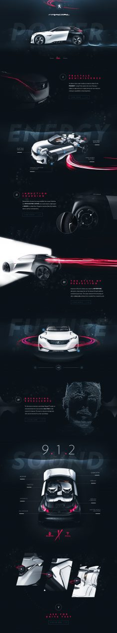 Peugeot™ Fractal – Tribute Website by Steve Fraschini