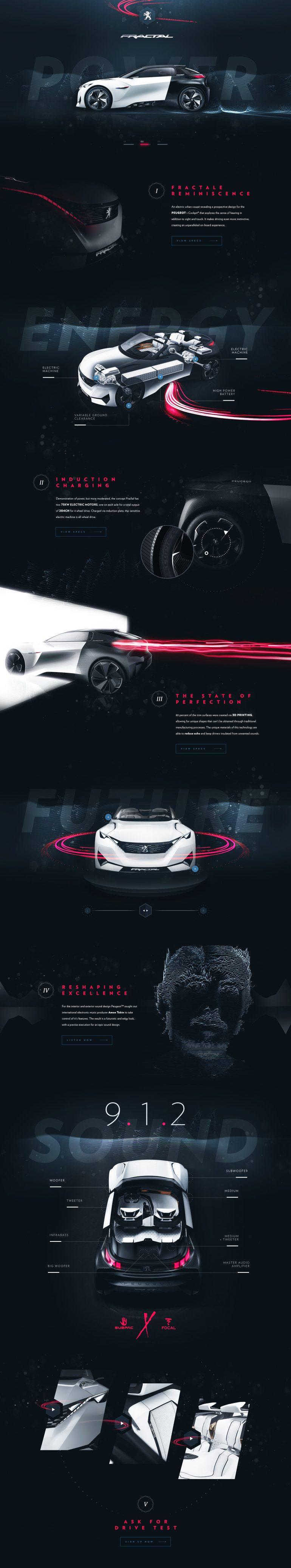 Peugeot™ Fractal – Tribute Website by Steve Fraschini