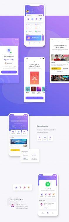 Finance Mobile App UI UX
