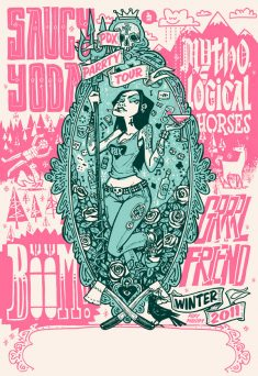 Saucy Yoda Winter Tour Gig Poster