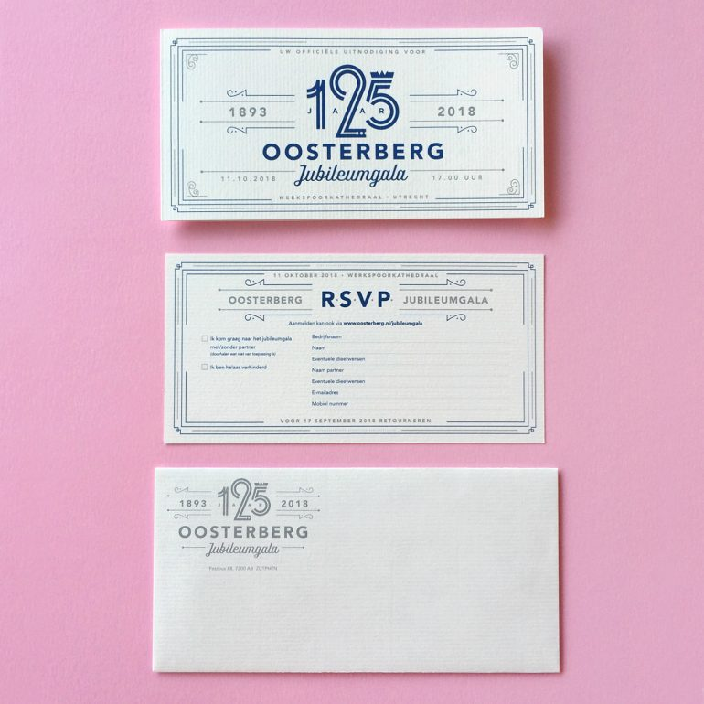 Invitation 125th anniversary party Royal Oosterberg