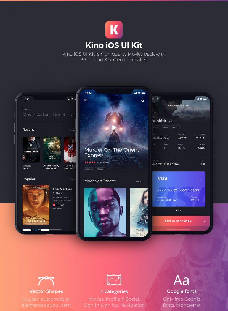 Kino, the Movie iOS UI Kit