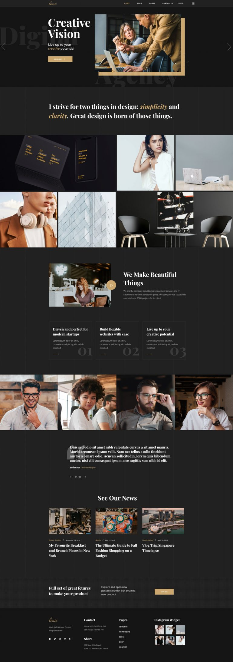 Louie – Modern Portfolio for Agencies