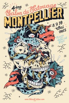 MONTPELLIER TATTOO CONVENTION Poster