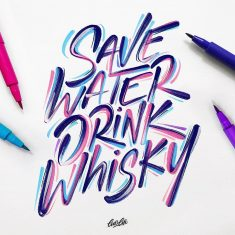 Save water, drink whisky! 🥃