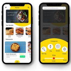 Food order app UI