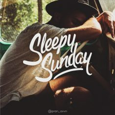 Sleepy Sunday : Typography