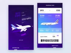 UI design exploration for Airbus iOS app by Gleb Kuznetsov