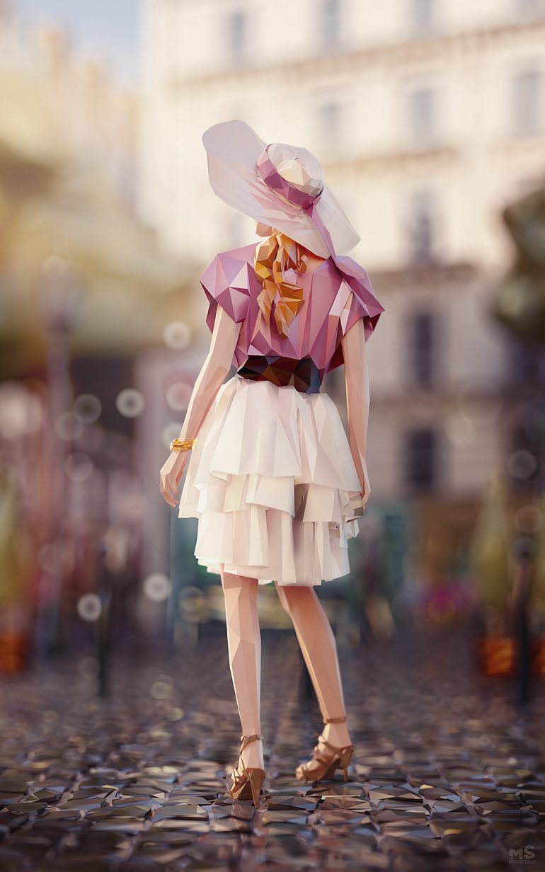 World in Facets – Low-poly Art Work of PARIS