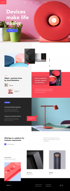The Diseño landing page by Taras Migulko