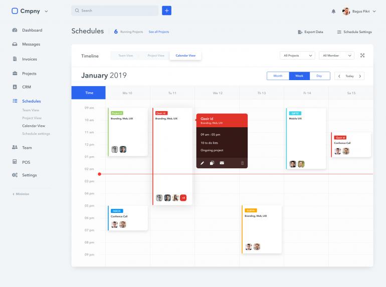 Calendar – System Ui Kit by Bagus Fikri