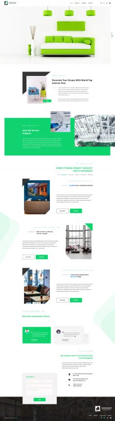 Interior Landing Page Design