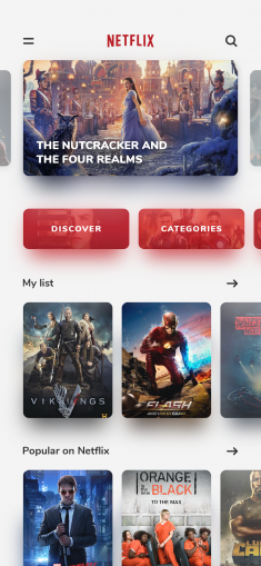 Netflix – Mobile App Redesign by Lisa Martinovska