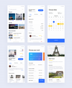 More pages from Travel booking app by Yushun