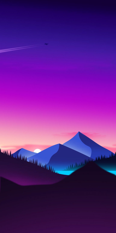 Sunset, IPhone X Wallpaper