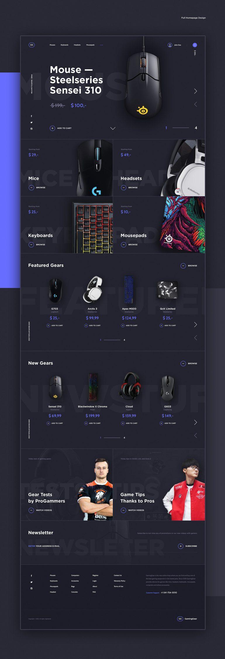 GamingGear. E-commerce Website