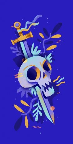 skull and sword wallpaper by mr maestre