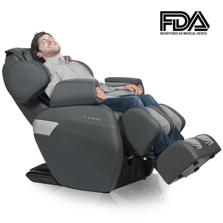 RELAXONCHAIR [MK-II PLUS] Full Body Zero Gravity Shiatsu Massage Chair with Built-In Heat and Ai ...