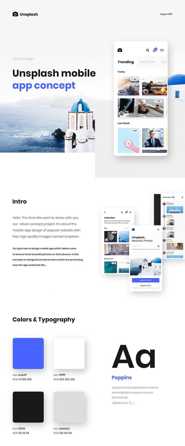 Unsplash.com — Mobile App Concept