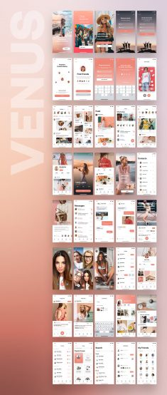 Venus Social Mobile UI Kit