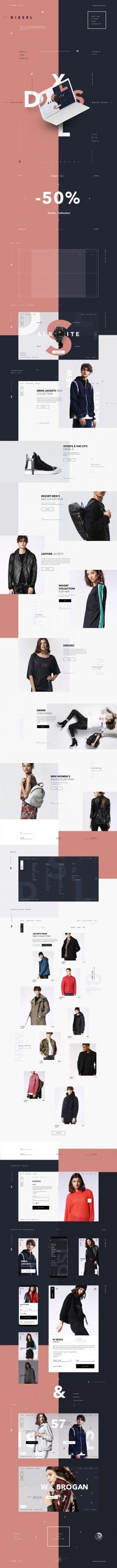 Diesel Store Web Concept