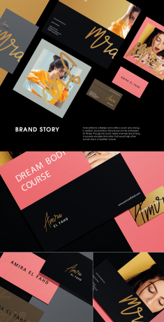 Amira Elfahd Brand Identity Design.