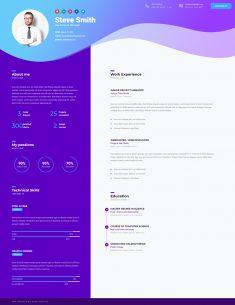 Business CV – HTML5 Online Resume & Personal Portfolio