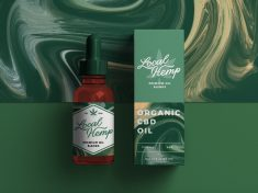 CBD Oil Packaging by Alex Spenser