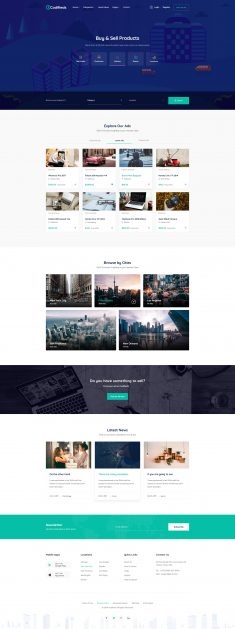 Codifieds – Classified Ads PSD Template