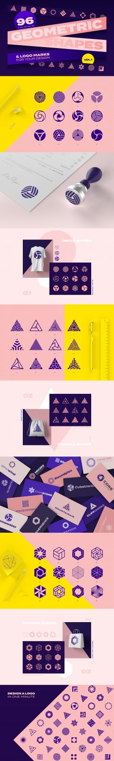 Geometric shapes & logo marks VOL.1
