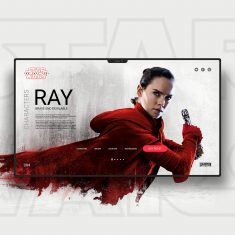 Star Wars The Last Jedi UI / UX