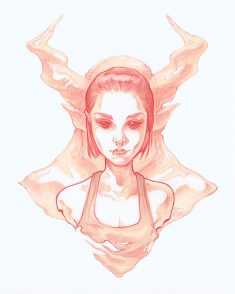 Demon Redsketch by Ashline-illus