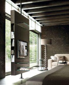 Built-in Room Divider & TV Media