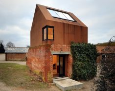 Dovecote Studio, the ghost structure of a ruined building