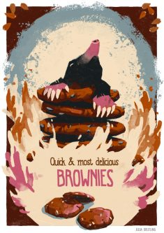 Poster with no Animal: Brownies by Gnulia