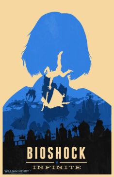 Bioshock Infinite Elizabeth blue variant poster by billpyle