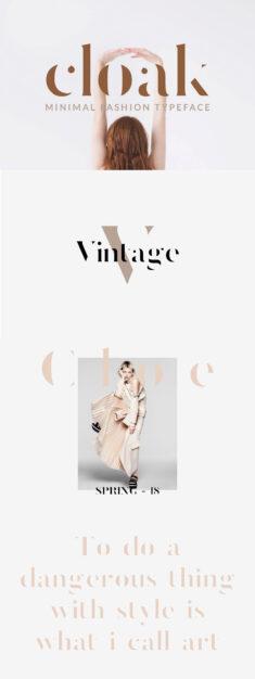 Cloak – Minimal Fashion Font
