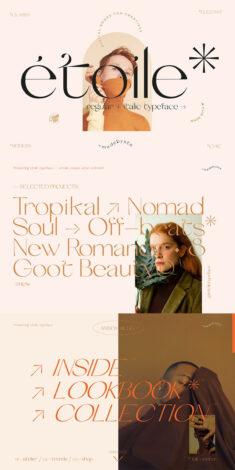 Etoile* – Modern & Elegant font set