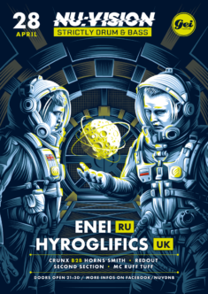 Nu:Vision / Posters for drum and bass events