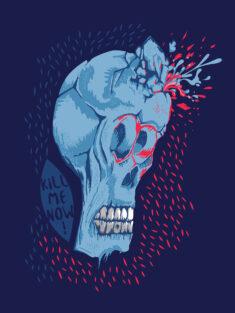 Stylised Skull Poster
