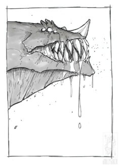 Inktober 2018 – Day 6 – Drooling by jollyjack
