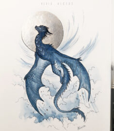 Inktober 12 Dragon by AlviaAlcedo