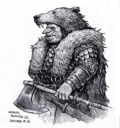 Orc – Inktober 26 2020 by BrokenMachine86