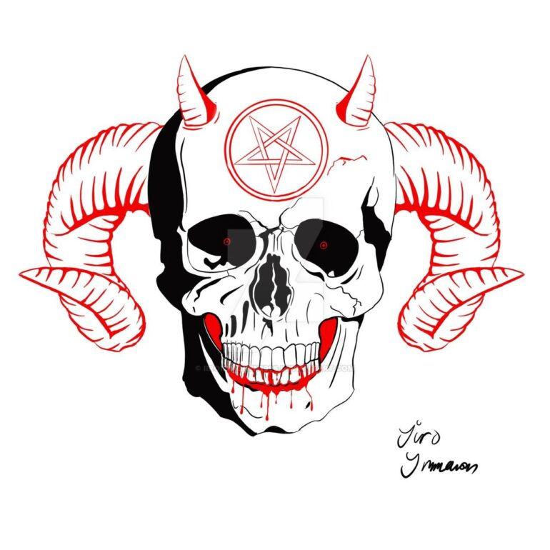 Demonic Skull by IiroImmonen1998