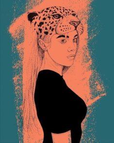 Jaguar Illustration Girl